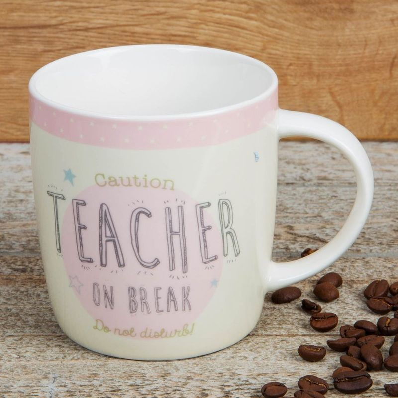 """Caution Teacher on a break"" Mug"